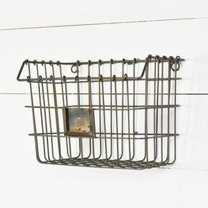 Other - Industrial Wire Grid Wall Basket Pocket